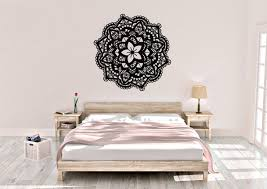 flower mandala wall decal mandala wall decor vinyl wall decal