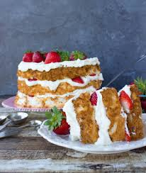 strawberry lemon layered angel food cake sugar spun run