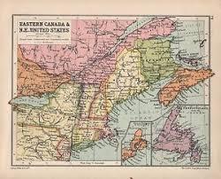 map of east canada 1934 map eastern canada east united states newfoundland
