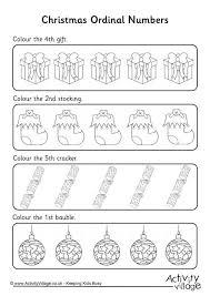 ordinal numbers worksheet christmas 2 christmas worksheets