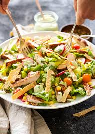 Salad Main Dish - southwest chicken salad with avocado lime dressing recipe runner