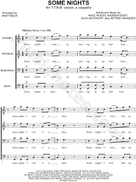 some nights arr andy beck ttbb choir a cappella choral