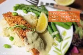 budget cuisine ikea ikea cook cajun salmon in lemon dill sauce 20 minute meal