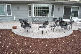 Paver Patios Installed In The Mequon Hardscaping Projects Stone Retaining Walls Fieldstone