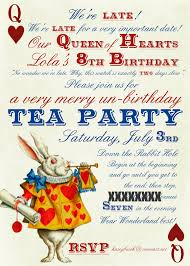 mad hatters tea party invitation ideas alice in wonderland party invitations reduxsquad com
