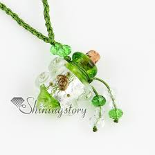 bottle necklace pendant images Empty small glass vial necklace pendants vintage perfume bottle jpg