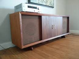 mid century stereo credenza remodel thisisnt com