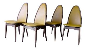 Stakmore Folding Chairs by Stakmore Mid Century Folding Dining Chairs Set Of 4 Chairish