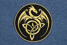 gold dragon celtic knot patch 4 celtic knot dragon