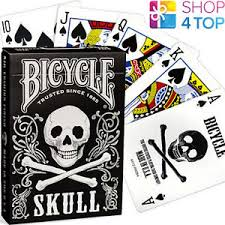 bicycle skull cards deck magic tricks design jolly