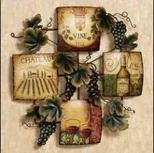 grape home decor tuscany wine bottle shaped metal wall art hanging grapes welcome