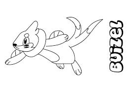 coloring pages glamorous pokemon coloring pages buizel