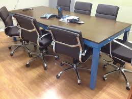 Detachable Conference Table 40 X 96 Welded Steel Conference Table Blue Powder Coating And