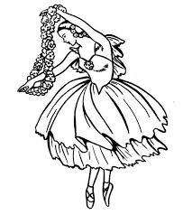 ballerina classic ballet dance coloring ballerina