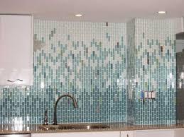 kitchen with glass tile backsplash custom gradients