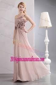 light pink dama dresses one shoulder light pink long chiffon dama dresses with flowers