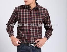 mens shirts flannel check mens long sleeve business shirt cotton