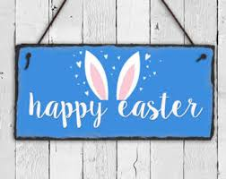 Outdoor Decorative Signs Happy Easter Sign Etsy