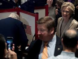 photos hillary and bill clinton cast their votes business insider