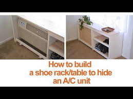 How To Build A Shoe Rack Bench How To Build A Diy Shoe Rack Or Table To Conceal An A C Unit Youtube