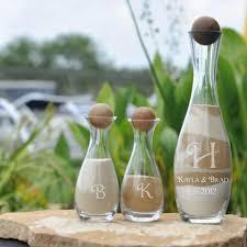 Heart Shaped Sand Ceremony Vase Set 3 Piece Zen Unity Sand Ceremony Vase Set With Wood Ball Top
