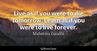 biography of mahatma gandhi summary live as if you were to die tomorrow learn as if you were to live