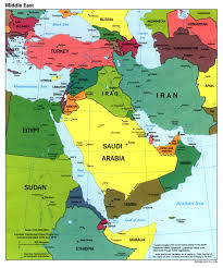 Middle East Outline Map by Middle East Political Map 1998