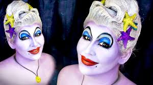 ursula the sea witch halloween makeup tutorial youtube