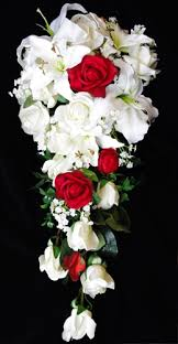roses and lilies touch white real touch roses roses and lilies
