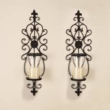 Flameless Candle Wall Sconce Set 2 Rustic Wall Sconce Candle Wayfair