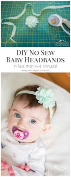 how to make baby headband diy no sew baby flower headbands