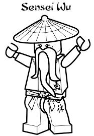 ninjago cartoon network sensei wu ninjago coloring pages