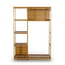 chambre noe armoire en bambou avec tringle et tablettes naturel noe les