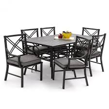 7 Piece Aluminum Patio Dining Set - audubon 7 piece aluminum patio dining set with rectangular table