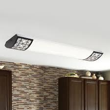 allen roth capistrano white acrylic ceiling fluorescent light shop allen roth calypso aged rubbed bronze ceiling fluorescent