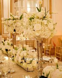 gold centerpieces gold polished metal trumpet vases wedding centerpieces vases