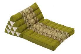 thai triangle cushion 1 fold natural kapok filling bamboogreen