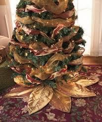 brown tree skirt gold poinsettia tree skirt home kitchen