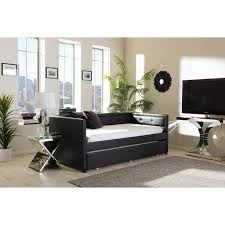full size upholstered daybeds with pop up trundle ihome studio