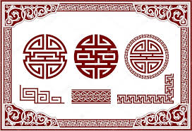 chinese design vector set of oriental chinese design elements stock vector
