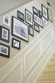 Basement Framing Ideas White Walls And Picture Frames In Hallway Decorating Ideas