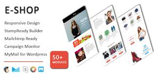 e shop ecommerce responsive email template with stampready
