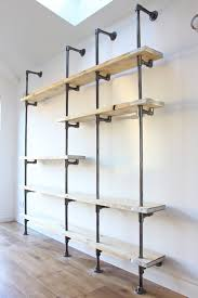 Metal Wall Shelving by Bespoke Listing For Linda Scaffolding Boards And Dark Steel Pipe