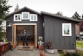 Modern Tiny House Garage Converted To 250 Sq Ft Modern Tiny House