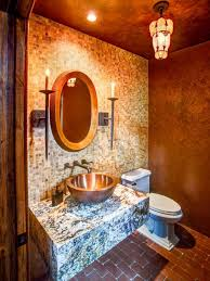 what color goes with brown bathroom cabinets 10 paint color ideas for small bathrooms diy network