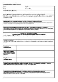 danielson model lesson plan template teaching ideas pinterest