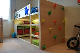 cabin beds for girls kura bed with climbing wall