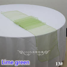 lime green table runner lime green colour party decoration crystal organza table runner