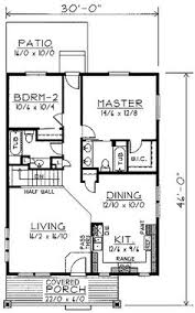 2 Bed Bungalow Floor Plans Plan 44091td Designed For Water Views Scale Bedrooms And Kitchens