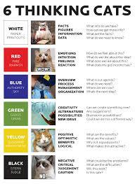 6 thinking cats remix of the 6 thinking hats by edward de bono
